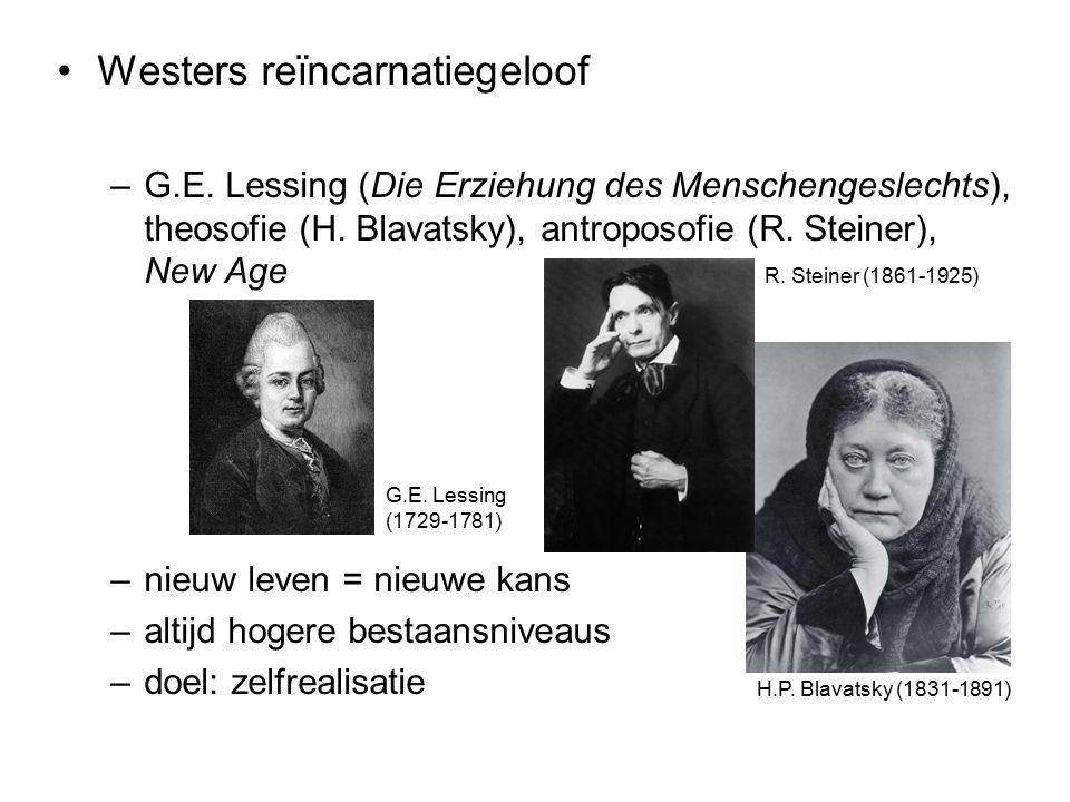 Westers reïncarnatiegeloof –G.E. Lessing (Die Erziehung des Menschengeslechts), theosofie (H.