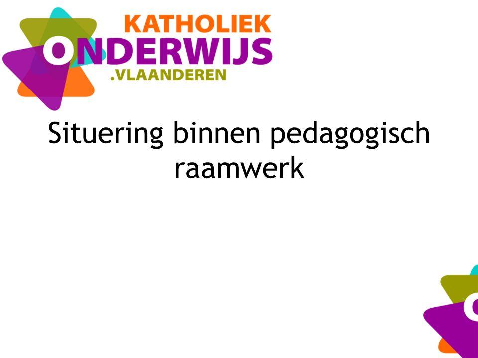Situering binnen pedagogisch raamwerk