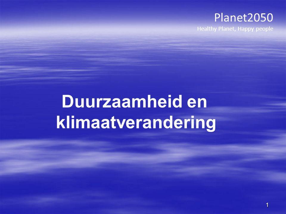Planet2050 Healthy Planet, Happy people 1 Duurzaamheid en klimaatverandering