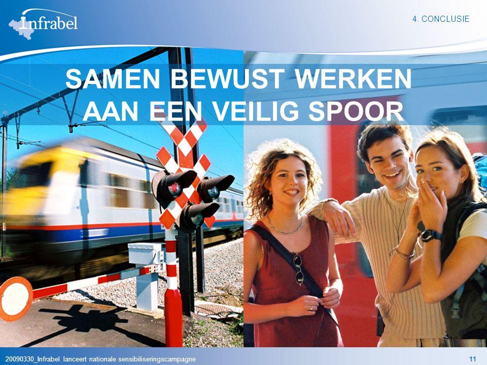 20090330_Infrabel lanceert nationale sensibiliseringscampagne11 5. CONCLUSIES 4. CONCLUSIE SAMEN BEWUST WERKEN AAN EEN VEILIG SPOOR