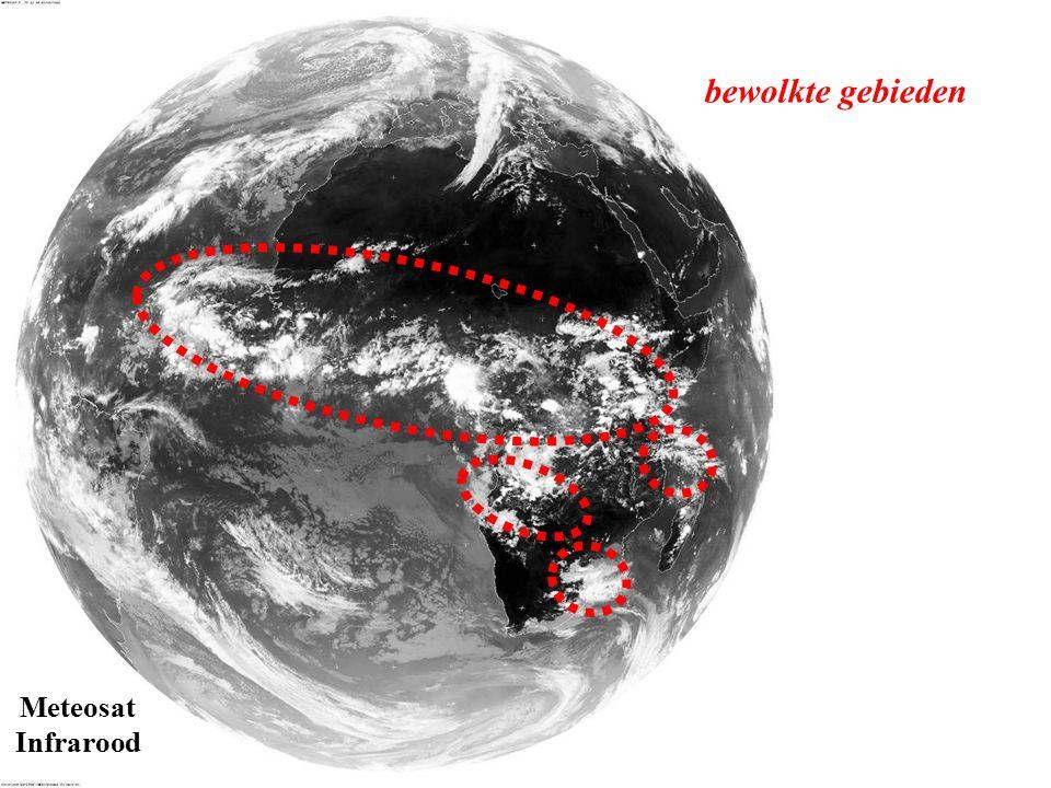 Meteosat Infrarood bewolkte gebieden