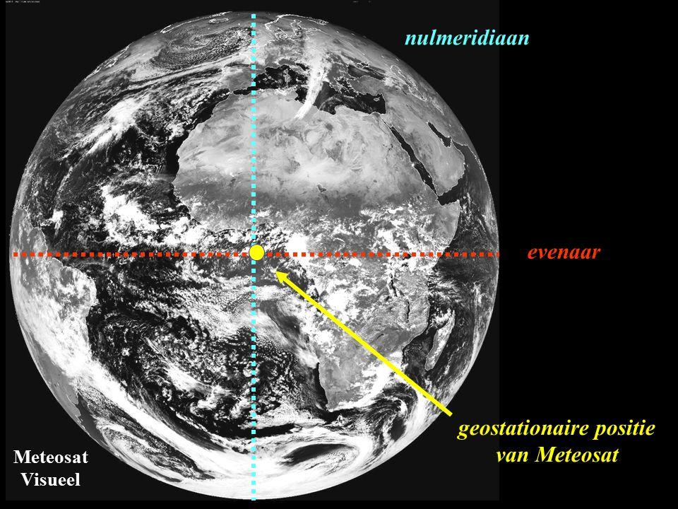 geostationaire positie van Meteosat evenaar nulmeridiaan Meteosat Visueel