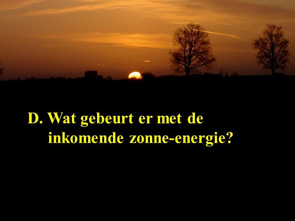 D. Wat gebeurt er met de inkomende zonne-energie