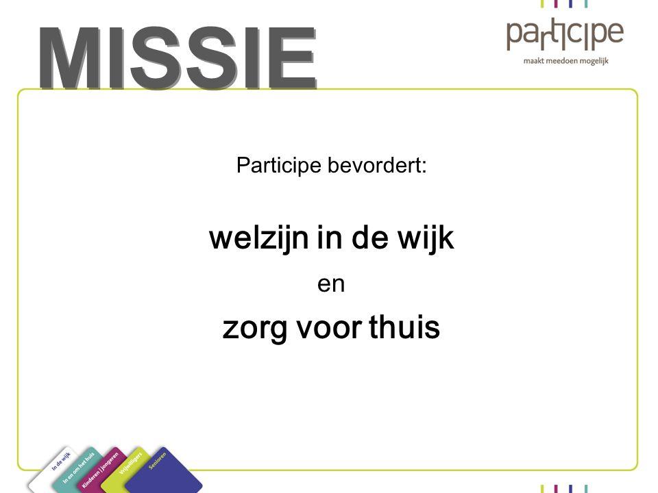 MISSIE Participe bevordert: welzijn in de wijk en zorg voor thuis