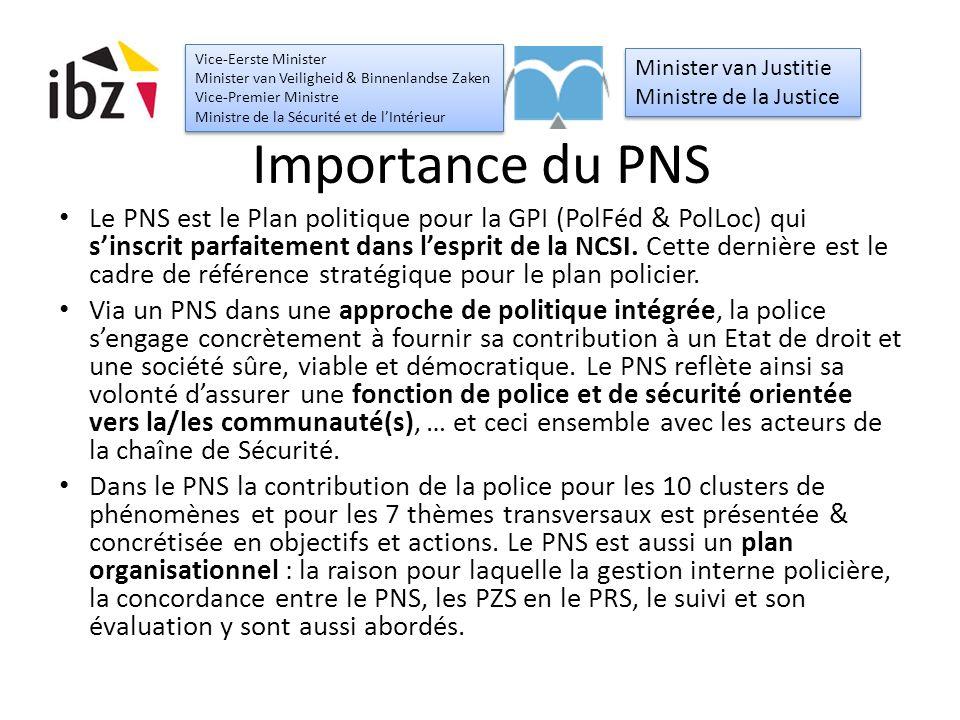 Importance du PNS Le PNS est le Plan politique pour la GPI (PolFéd & PolLoc) qui s'inscrit parfaitement dans l'esprit de la NCSI.