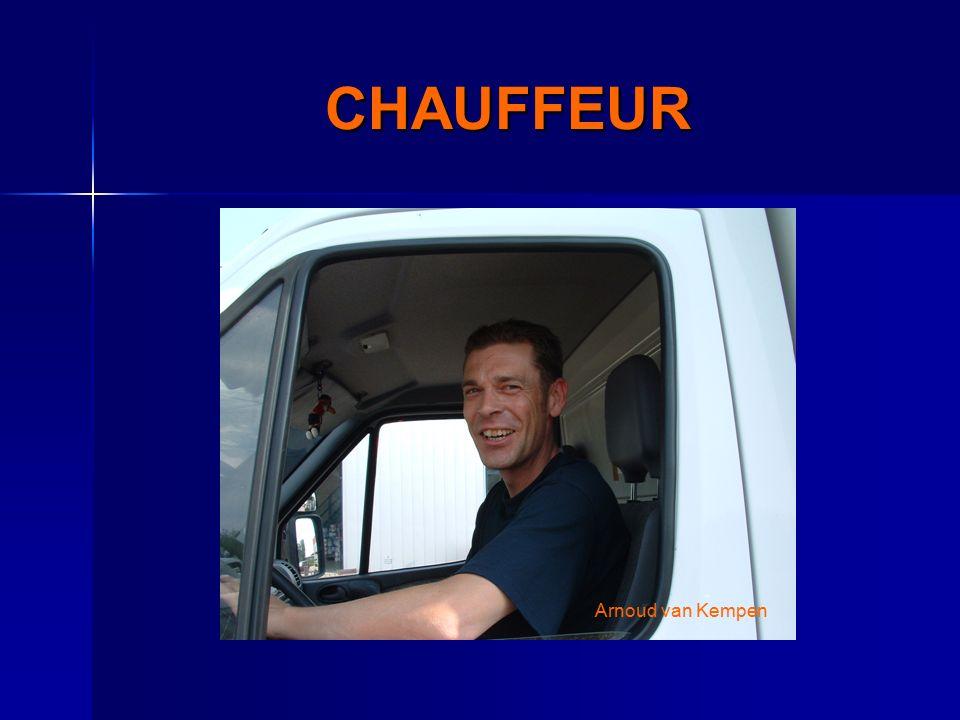 CHAUFFEUR Arnoud van Kempen