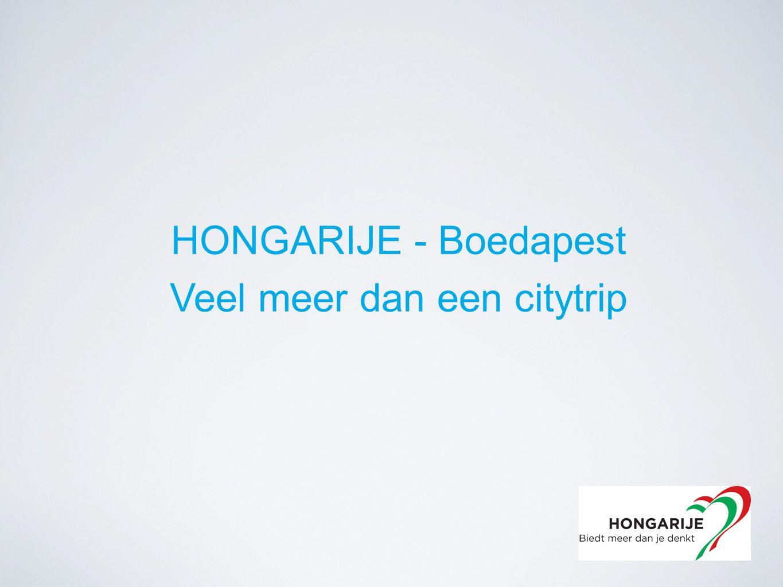 HONGARIJE - Boedapest Veel meer dan een citytrip