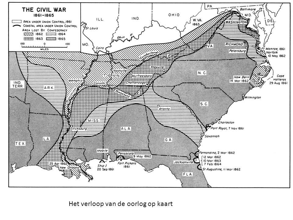 Het verloop van de oorlog op kaart