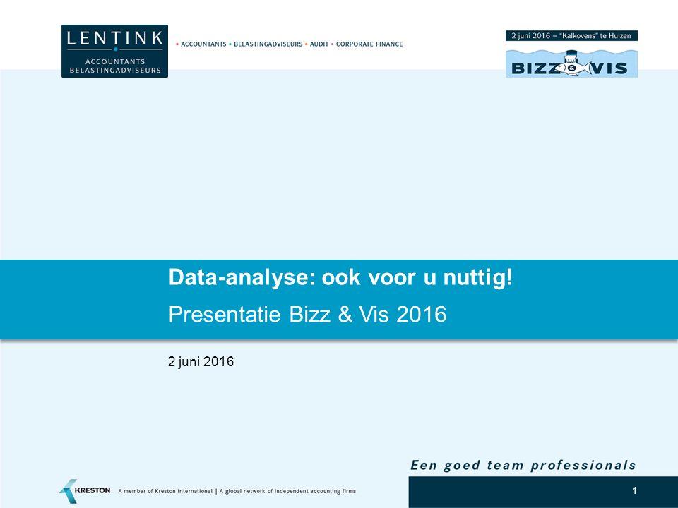2 Agenda Introductie Data-analyse ten behoeve van het identificeren van risico's -Boekhoudkundig -Fiscaal Process mining Data-analyse ten behoeve van strategische mogelijkheden en kansen Data-analyse: hoe.