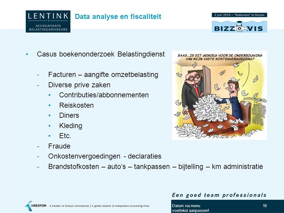 11 Data-analyse ten behoeve van het analyseren van processen -Processen analyseren (process mining) aan de hand van event logs.