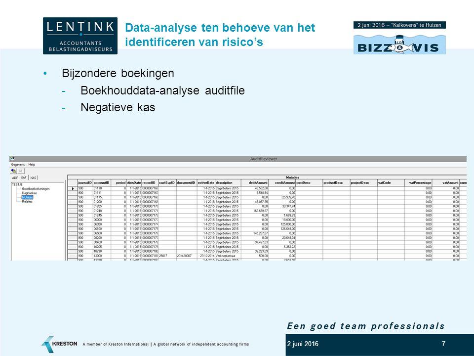 8 Data-analyse in het kader van fiscaliteit.