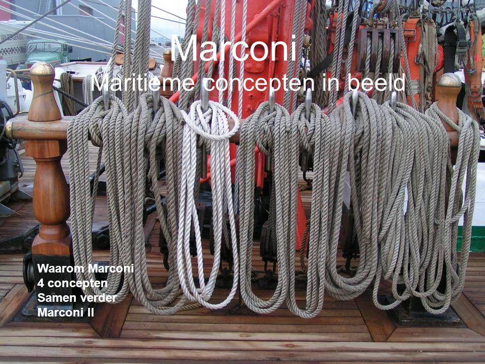 Marconi Waarom Marconi 4 concepten Samen verder Marconi II Maritieme concepten in beeld