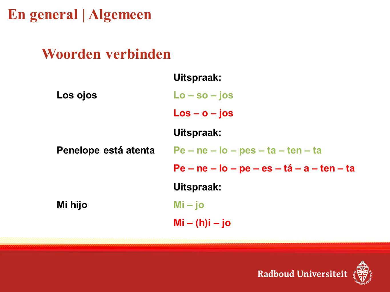Consonantes | Medeklinkers Zoals de Nederlandse 'k' Kilómetro Zoals de Nederlandse 'k' Queso In het Spaans komt er altijd een 'u' na de 'q'.