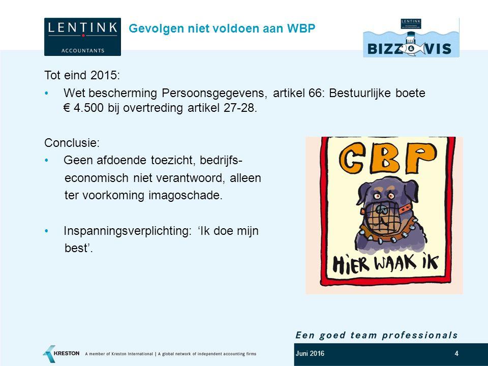 Logo klant 5 Vanaf 1 januari 2016: Artikel 66 lid: -Bindende aanwijzing; -Geldboete tot maximal € 820.000; -Geldboete art.