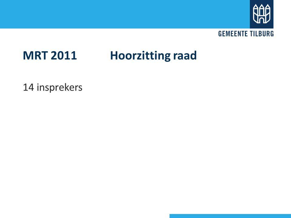 MRT 2011 Hoorzitting raad 14 insprekers