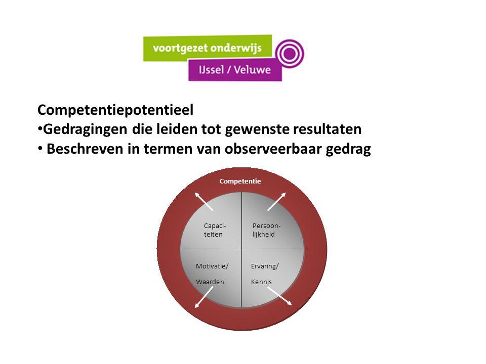 (SBL) competenties Interpersoonlijk Pedagogisch Didactisch Vakinhoudelijk Organisatorisch Samenwerken collega's Samenwerken omgeving Reflectie en ontwikkeling + omgaan met werkdruk