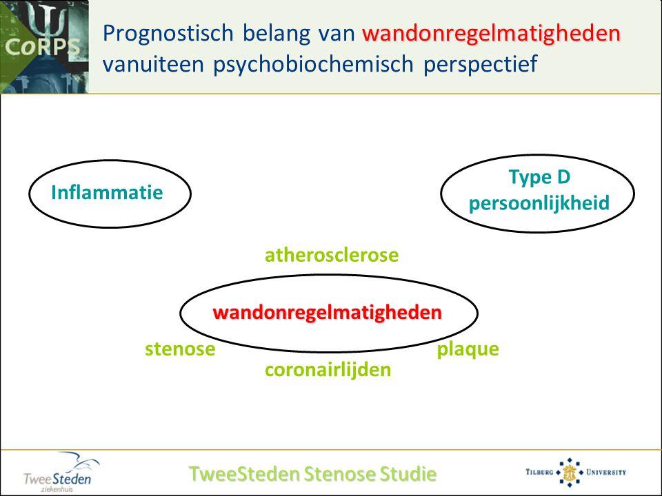 wandonregelmatigheden Prognostisch belang van wandonregelmatigheden vanuiteen psychobiochemisch perspectief Type D persoonlijkheid Inflammatie wandonr