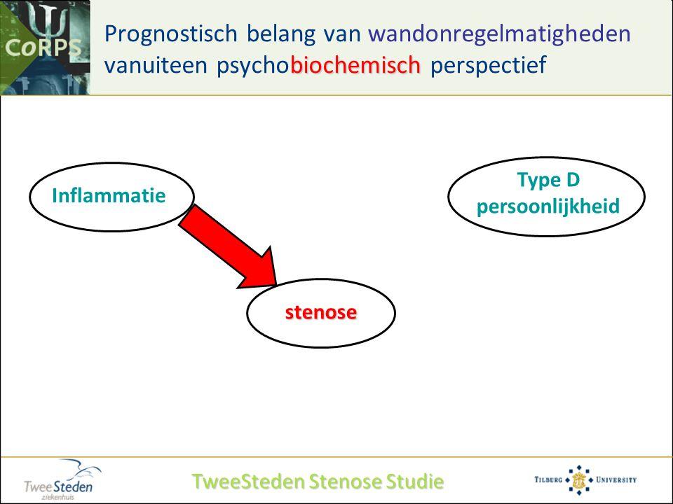 biochemisch Prognostisch belang van wandonregelmatigheden vanuiteen psychobiochemisch perspectief Type D persoonlijkheid Inflammatie stenose TweeStede