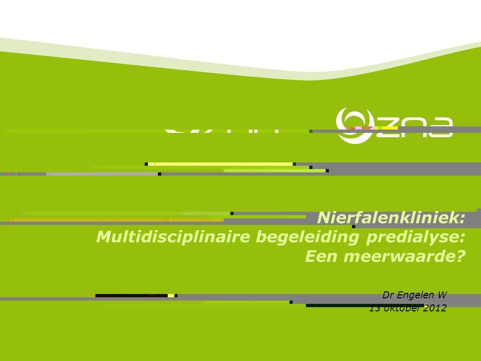 Nierfalenkliniek: Multidisciplinaire begeleiding predialyse: Een meerwaarde.