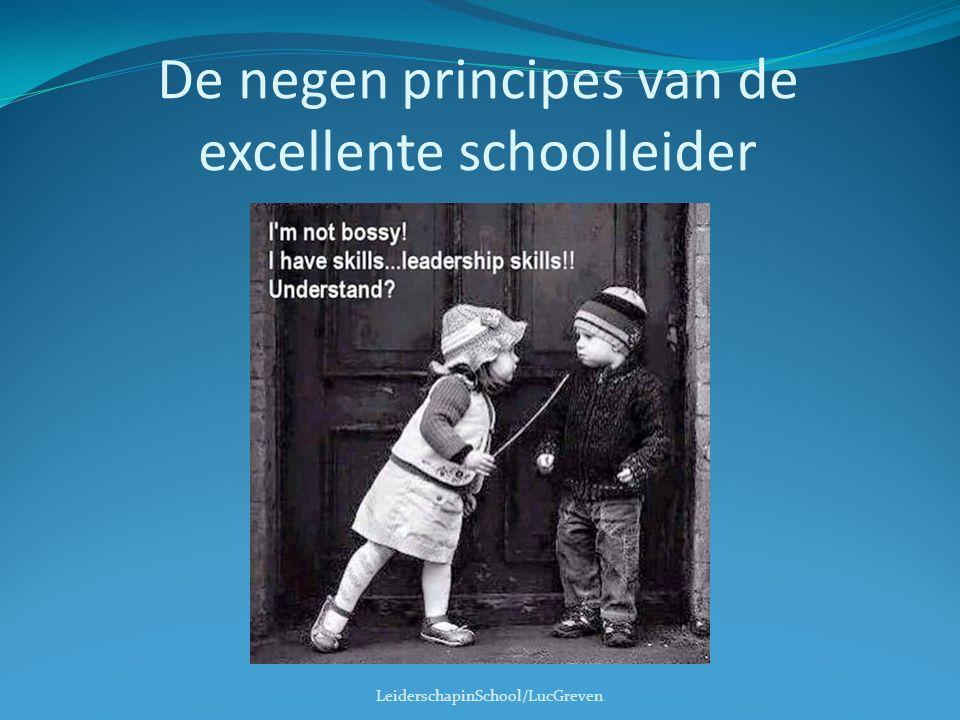 De negen principes van de excellente schoolleider LeiderschapinSchool/LucGreven