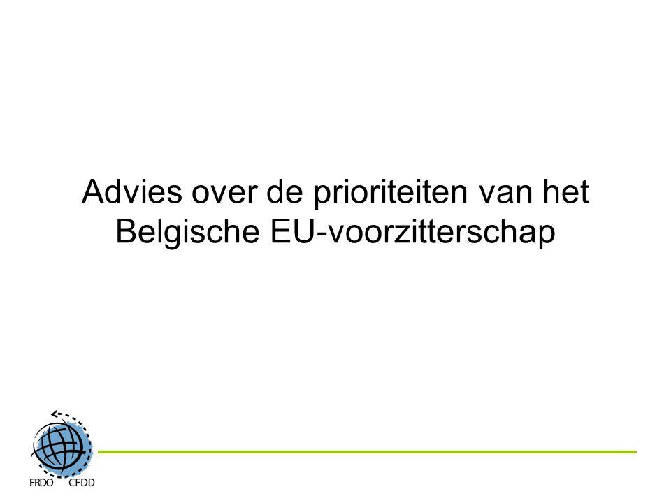 Advies over de prioriteiten van het Belgische EU-voorzitterschap