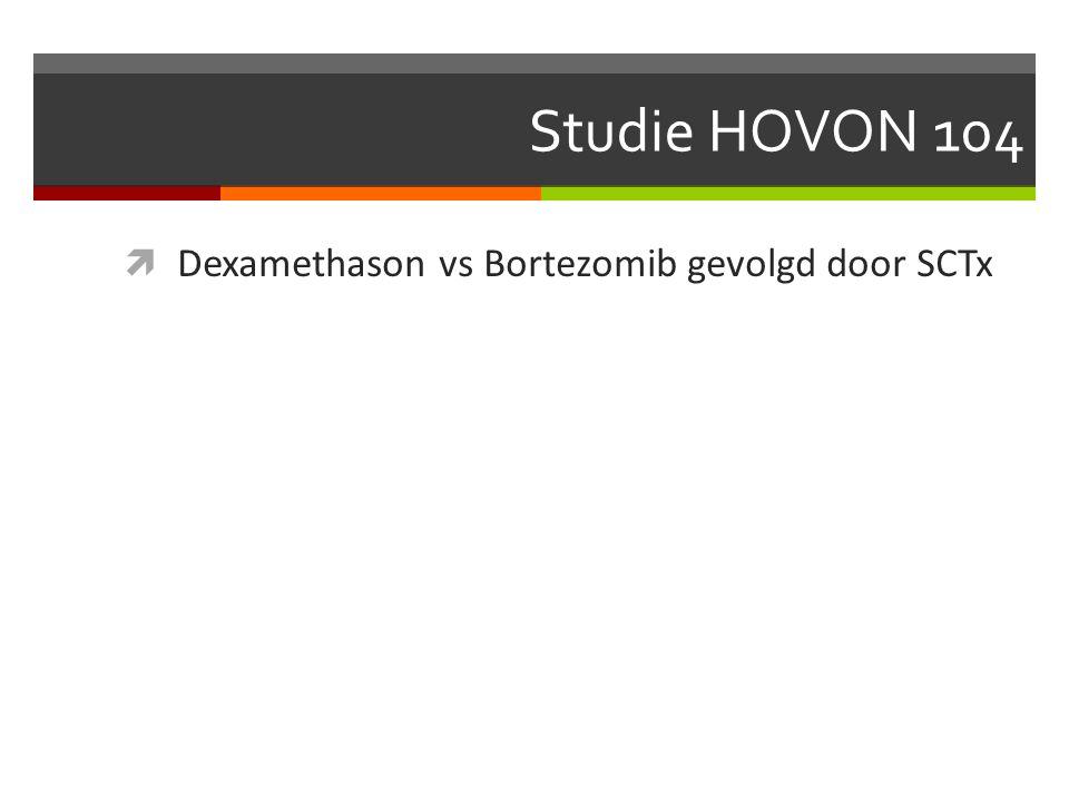 Studie HOVON 104  Dexamethason vs Bortezomib gevolgd door SCTx