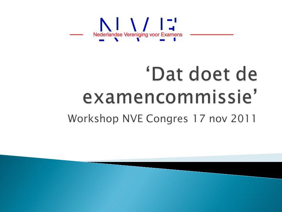 Workshop NVE Congres 17 nov 2011