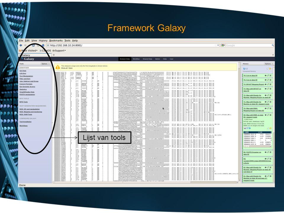 Lijst van tools Framework Galaxy