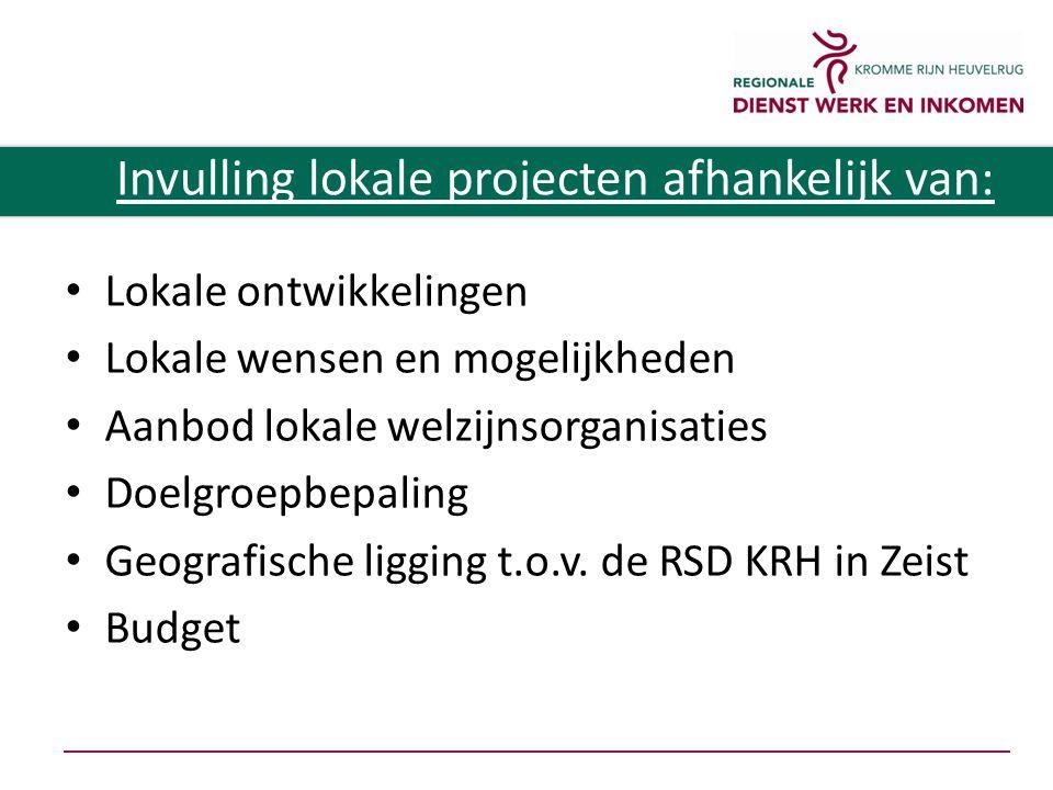 Lokale ontwikkelingen Lokale wensen en mogelijkheden Aanbod lokale welzijnsorganisaties Doelgroepbepaling Geografische ligging t.o.v.