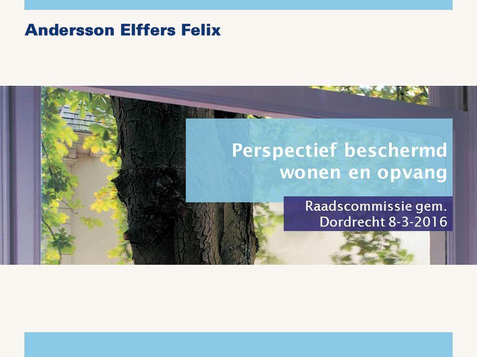 Perspectief beschermd wonen en opvang Raadscommissie gem. Dordrecht 8-3-2016