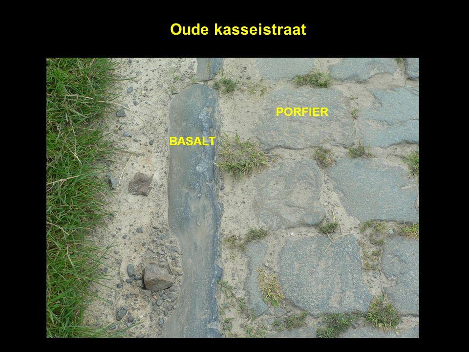 Oude kasseistraat BASALT PORFIER