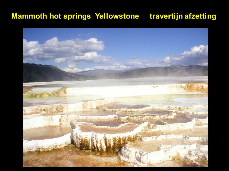 Mammoth hot springs Yellowstone travertijn afzetting