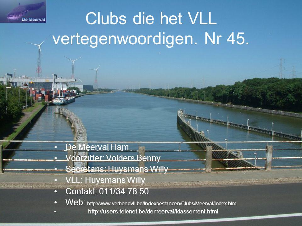 Clubs die het VLL vertegenwoordigen. Nr 45.