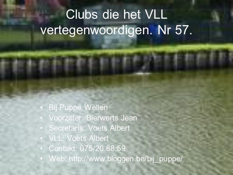Clubs die het VLL vertegenwoordigen. Nr 57.