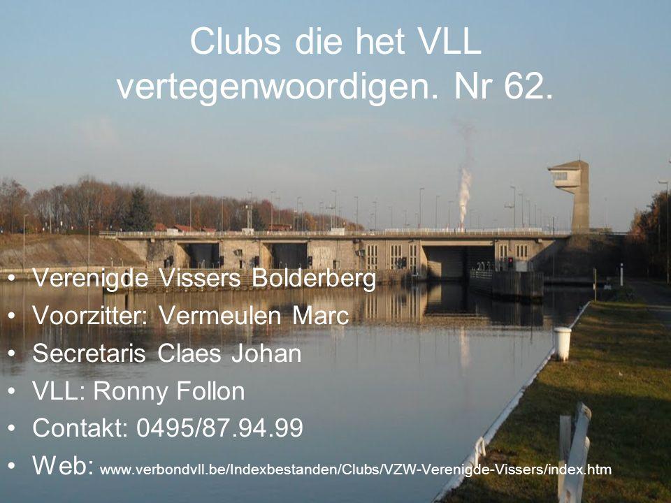 Clubs die het VLL vertegenwoordigen. Nr 62.