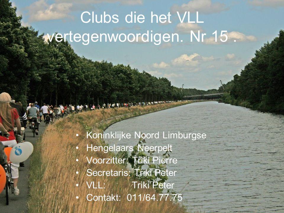 Clubs die het VLL vertegenwoordigen.Nr 60.