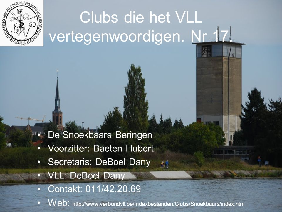 Clubs die het VLL vertegenwoordigen.Nr 62.