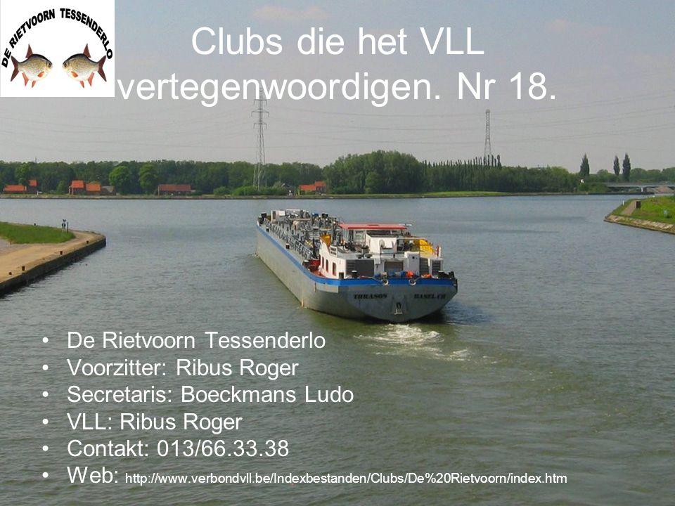 Clubs die het VLL vertegenwoordigen.Nr 20.
