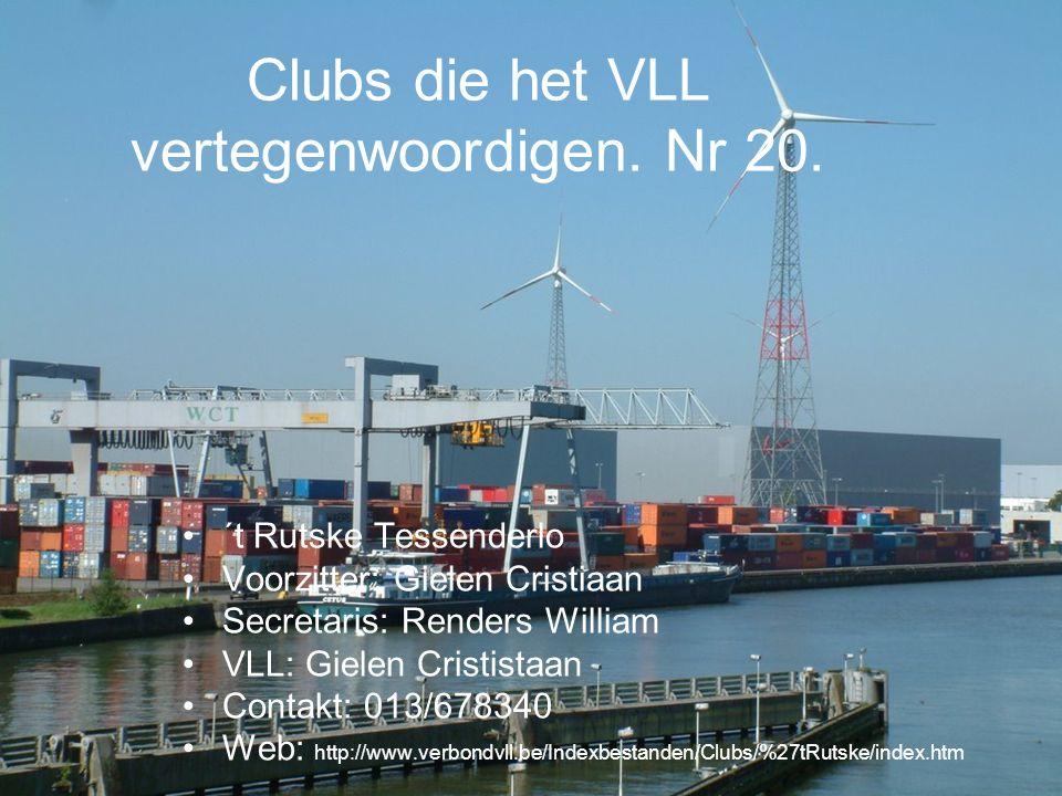 Clubs die het VLL vertegenwoordigen.Nr 25.