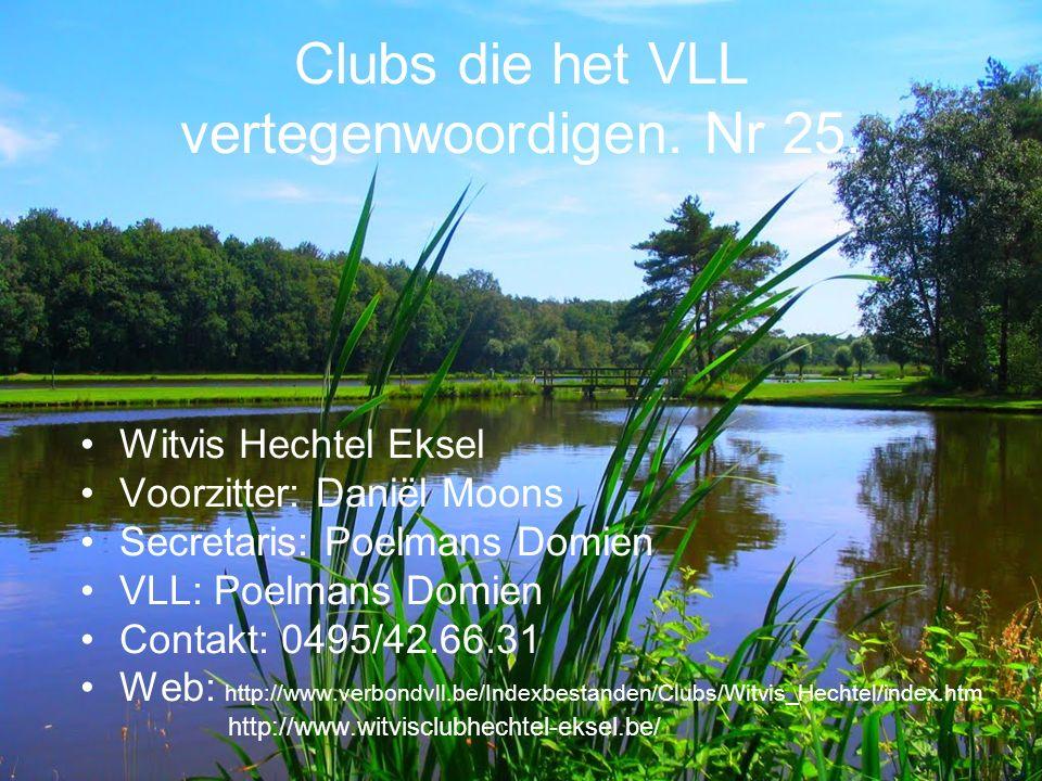 Clubs die het VLL vertegenwoordigen. Nr 25.