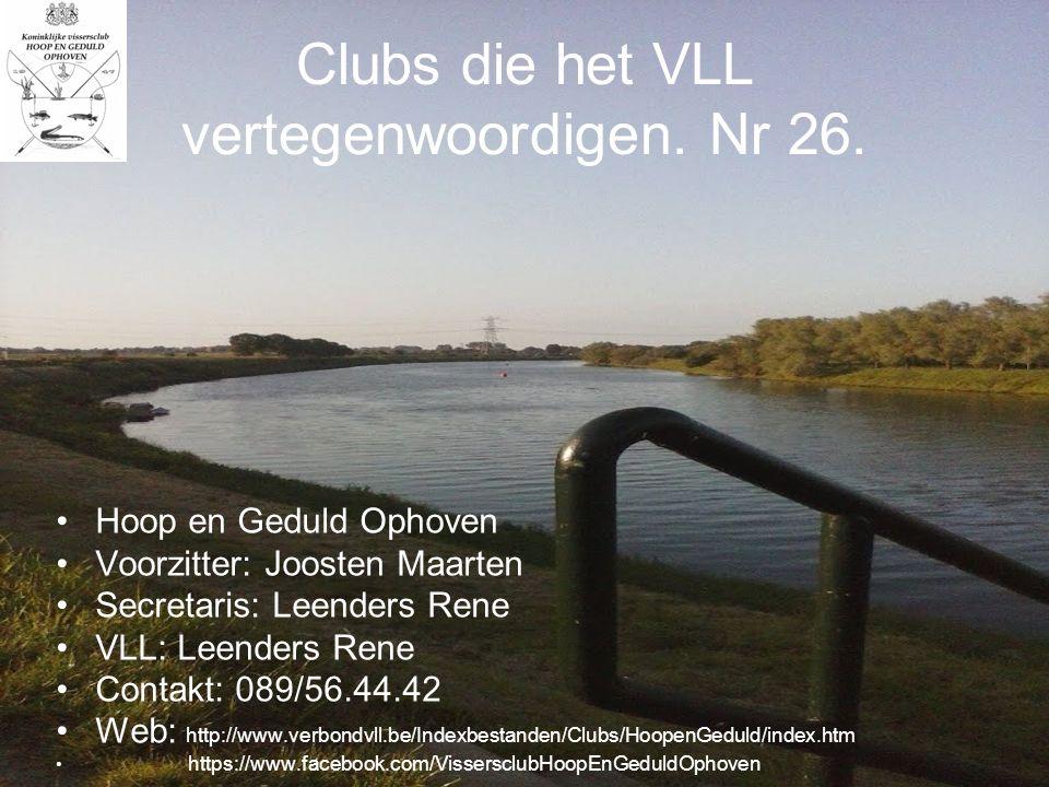 Clubs die het VLL vertegenwoordigen. Nr 26.