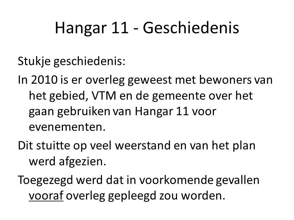 Hangar 11 - Geschiedenis Dat overleg vooraf, met de bewoners, is er nooit meer van gekomen.
