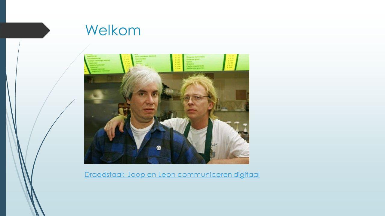 Welkom Draadstaal: Joop en Leon communiceren digitaal