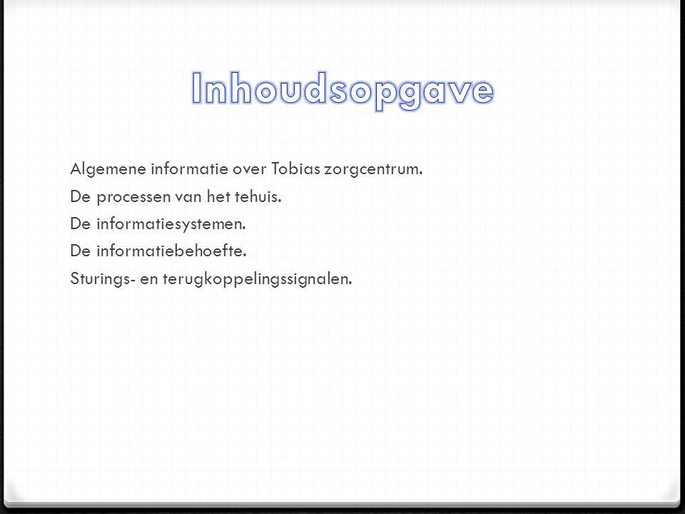 Algemene informatie over Tobias zorgcentrum. De processen van het tehuis.
