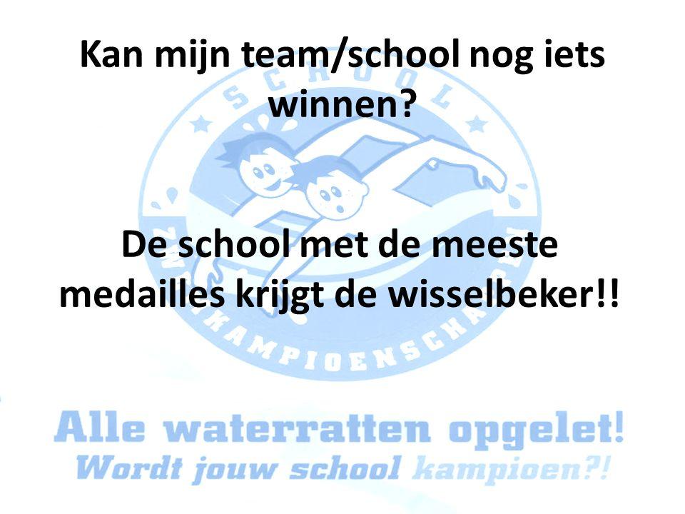 Kan mijn team/school nog iets winnen? De school met de meeste medailles krijgt de wisselbeker!!