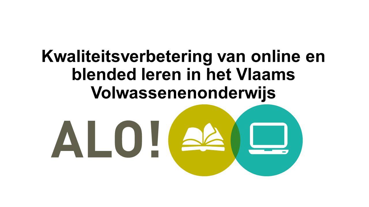 Kwaliteitsverbetering van online en blended leren in het Vlaams Volwassenenonderwijs
