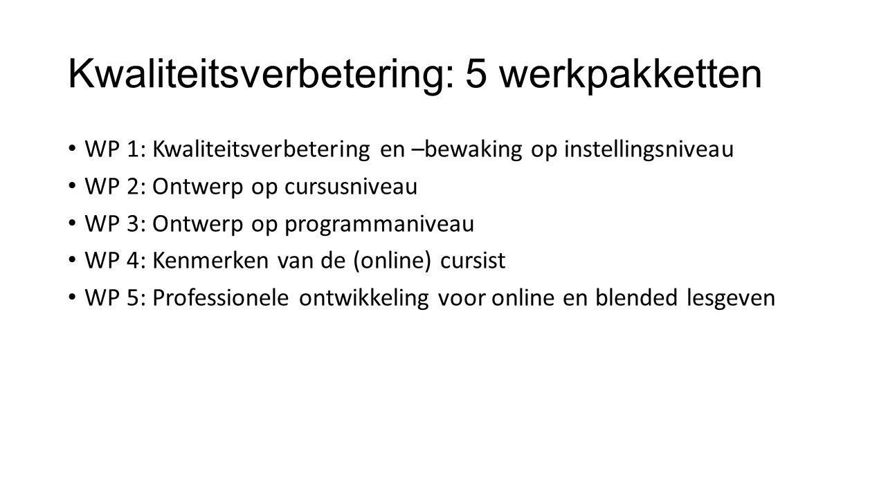 Adult learners Online WP2: Cursusontwerp