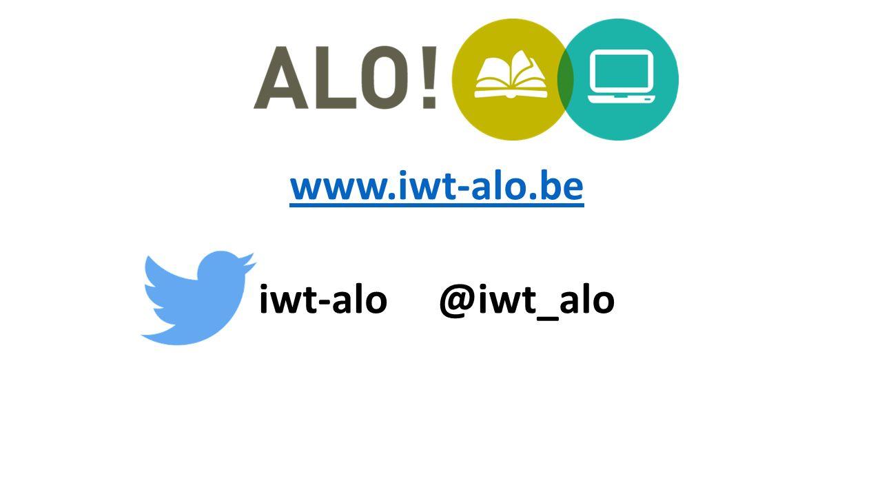 www.iwt-alo.be iwt-alo @iwt_alo