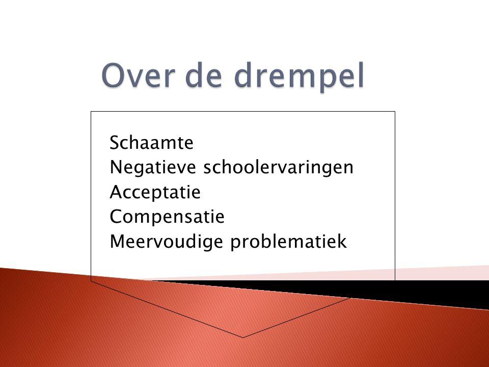 Schaamte Negatieve schoolervaringen Acceptatie Compensatie Meervoudige problematiek