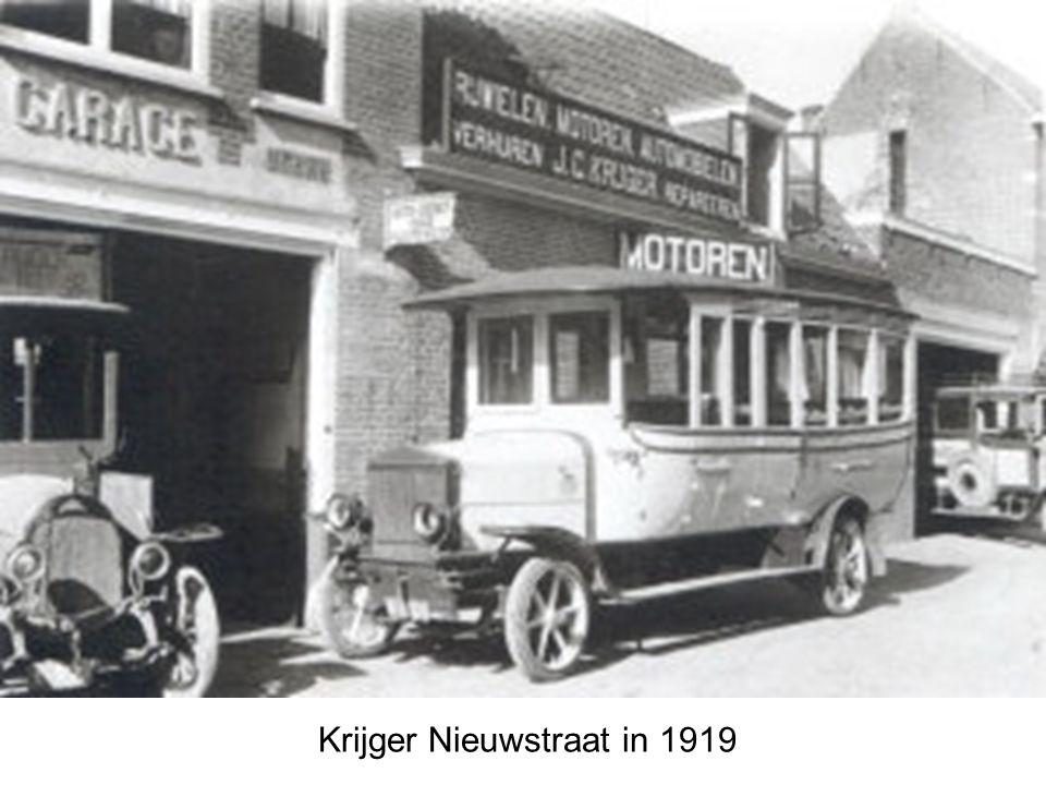 Sleepdienst Garage De Dreu Nieuwstraat in 1928